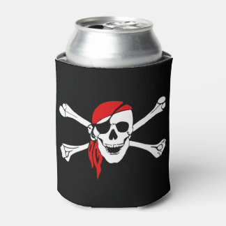 Pirate Skull Custom Can Cooler