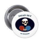 Pirate Skull Dead Ping Pong Pinback Buttons
