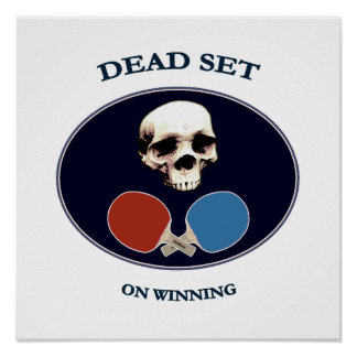 Pirate Skull Dead Ping Pong Poster