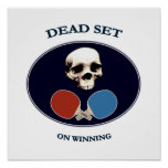Pirate Skull Dead Ping Pong Posters