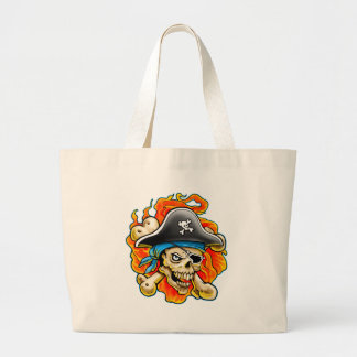 Pirate Skull Design Jumbo Tote Bag