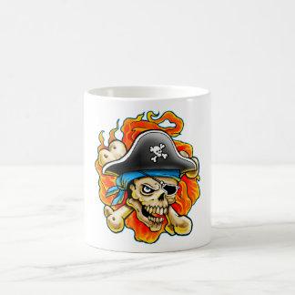 Pirate Skull Design Coffee Mug
