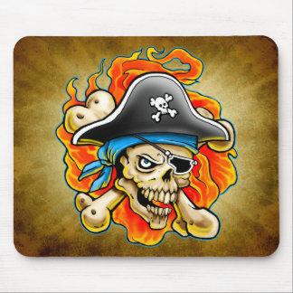 Pirate Skull Design Mouse Pad