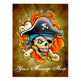Pirate Skull Design Postcards
