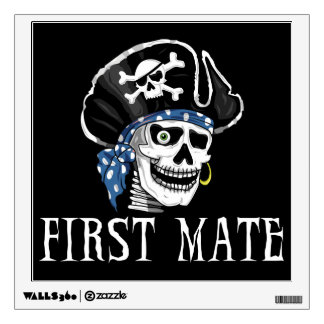 Pirate Skull - First Mate Wall Decal