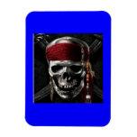 pirate skull flexible magnets