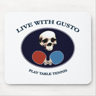 Pirate Skull Gusto Table Tennis Mouse Mats