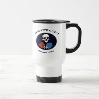 Pirate Skull Gusto Table Tennis Coffee Mug