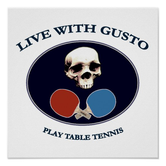 Pirate Skull Gusto Table Tennis Poster