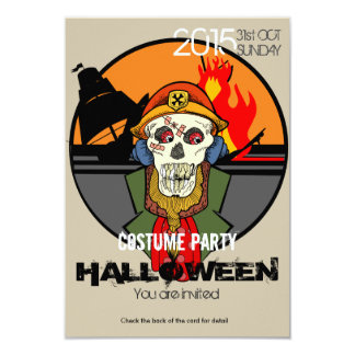 Pirate Skull Halloween Costume Party Invitation
