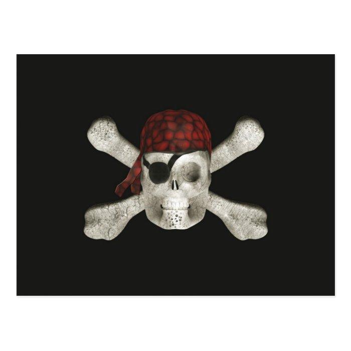 Pirate Skull - Halloween Postcard