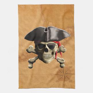 Pirate Skull Hand Towel