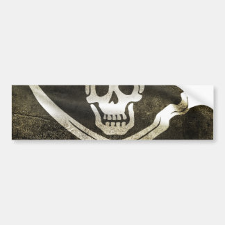 Pirate Skull in Cross Swords Bumper Sticker