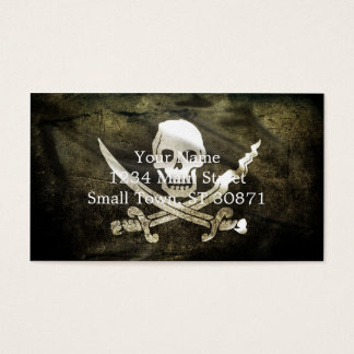 Pirate Skull in Cross Swords Business Card