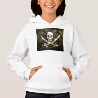 Pirate Skull in Cross Swords Hoodie