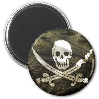 Pirate Skull in Cross Swords Magnet