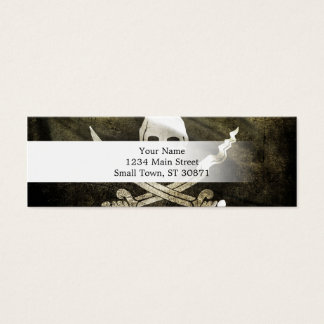Pirate Skull in Cross Swords Mini Business Card