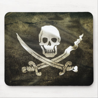 Pirate Skull in Cross Swords Mouse Pad
