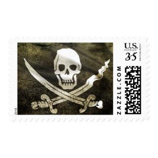 Pirate Skull in Cross Swords Postage