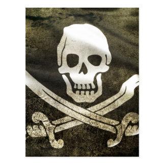 Pirate Skull in Cross Swords Postcard
