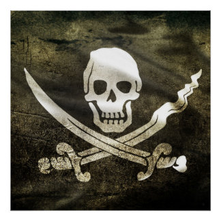 Pirate Skull in Cross Swords Poster