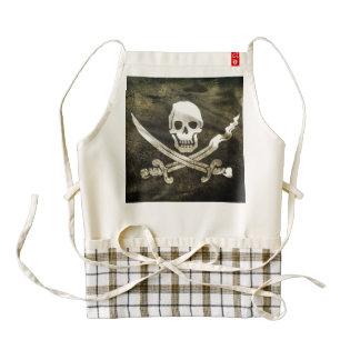 Pirate Skull in Cross Swords Zazzle HEART Apron