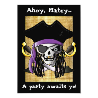'Pirate Skull' Invitation