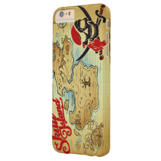 Pirate Skull Island Location Map Barely There iPhone 6 Plus Case
