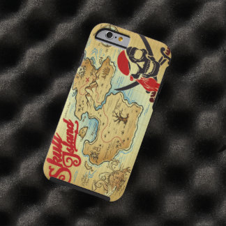 Pirate Skull Island Location Map Tough iPhone 6 Case