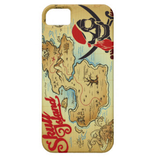 Pirate Skull Island Location Map iPhone 5 Cover