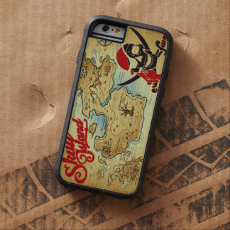 Pirate Skull Island Location Map Tough Xtreme iPhone 6 Case