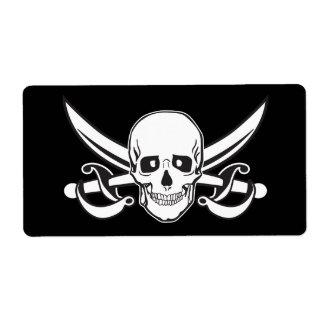 Pirate Skull Label