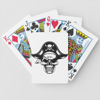 Pirate Skull Mascot Bicycle Playing Cards