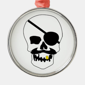 Pirate Skull Metal Ornament