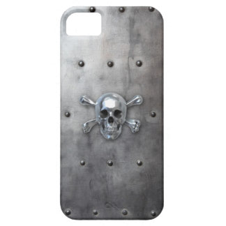 Pirate Skull on Metal iPhone SE/5/5s Case