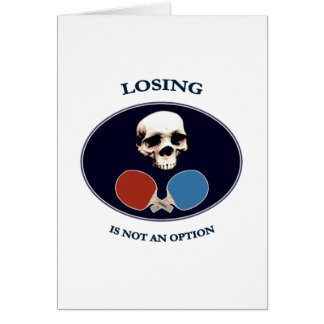 Pirate Skull Option Ping Pong Card