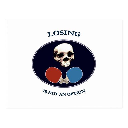 Pirate Skull Option Ping Pong Postcard