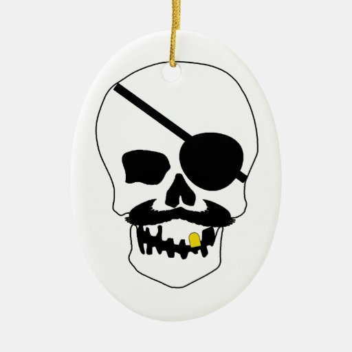 Pirate Skull Christmas Ornament