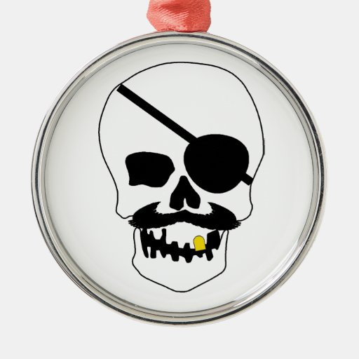 Pirate Skull Ornament
