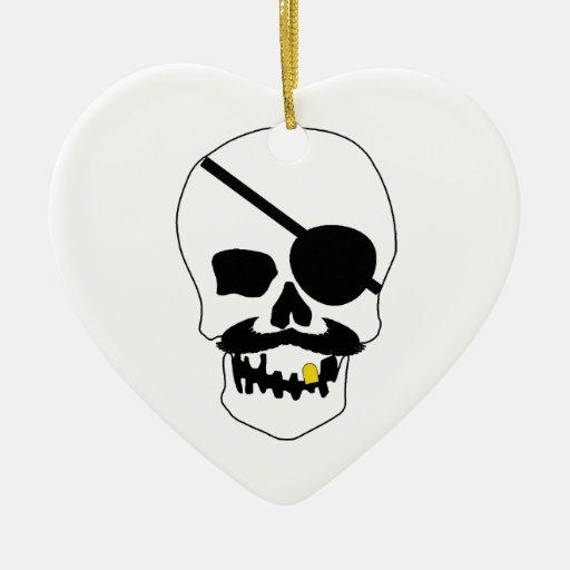 Pirate Skull Christmas Ornaments