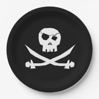 Pirate Skull Paper Plate