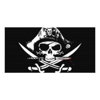 Pirate Skull Picture Card