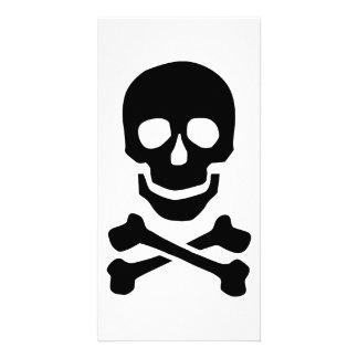 Pirate skull photo card template