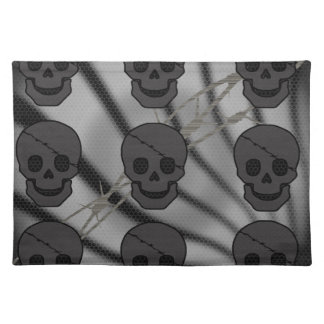 pirate skull placemat