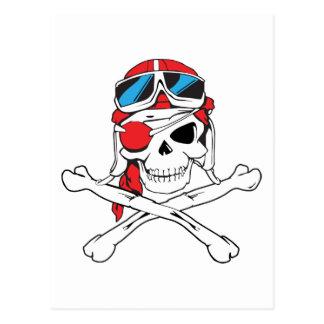 Pirate Skull Postcard