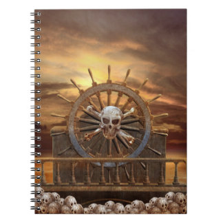 Pirate Skull Rudder Notebook