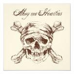 Pirate Skull & Ship Birthday Party Invite