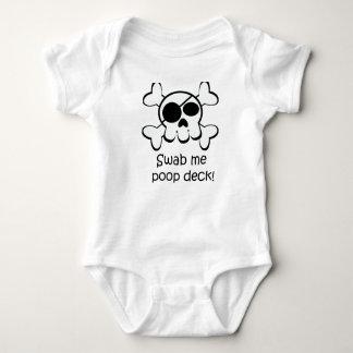 Pirate Skull Swab Me Poop Deck Tee Shirt