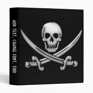 Pirate Skull & Sword Crossbones (TLAPD) 3 Ring Binder