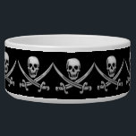 """Pirate Skull &amp; Sword Crossbones (TLAPD) Bowl<br><div class=""""desc"""">Be ye ready fer &#39;Talk Like A Pirate&quot; Day,  ye scallywag... ...  Thank you for stopping by! Gravityx9 Designs offers a large variety of designs and images. Contact me for information about new products.  For more pirate themed products,  please visit the PIRATE  DAY section in this store.</div>"""